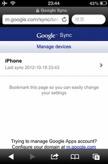 Google Sync - iPhone