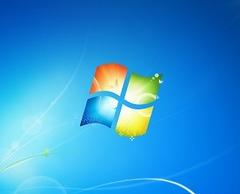 Windows 7 のデスクトップ