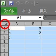 Excel 2010 でシート全体を選択